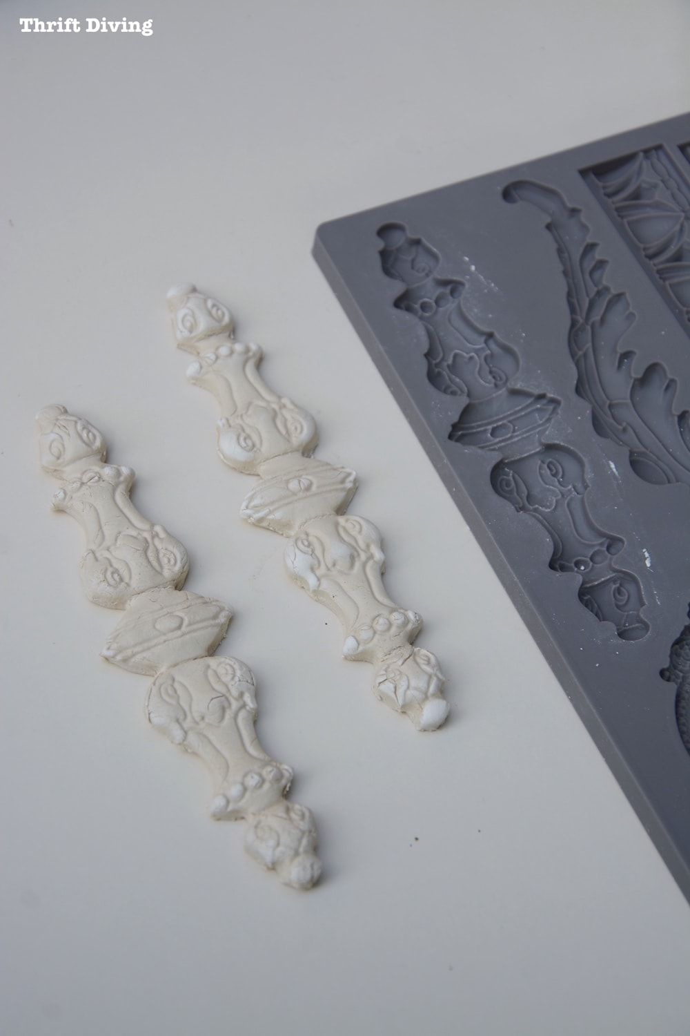 How to use clay molds adding vintage clay mold appliques to