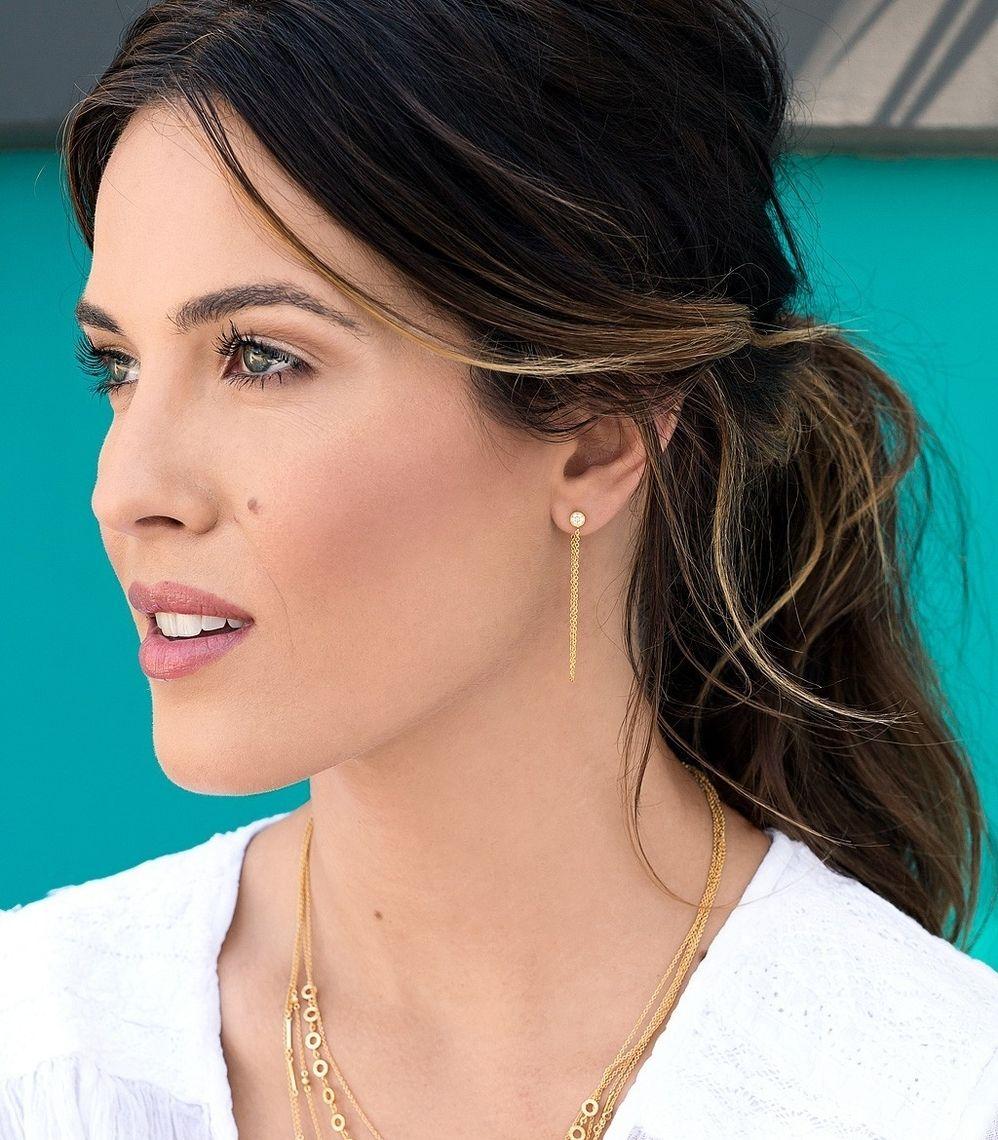 Pre Order Pristine Mini Chain Loop Studs Gold Gorjana Earrings Ping The Dark Horse Jewellery Australia