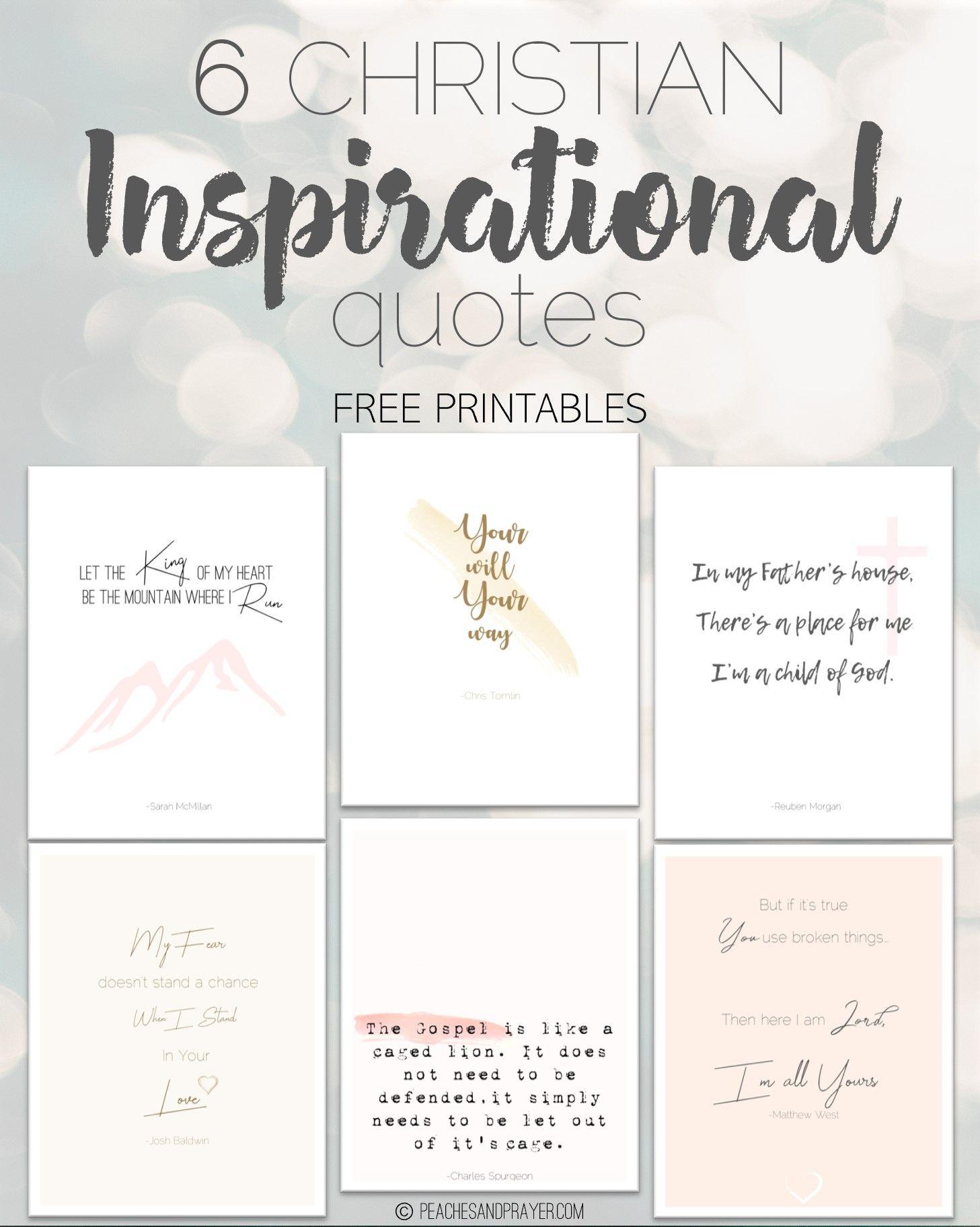 Christian Inspirational Quotes Christian Quotes Inspirational Encouragement Quotes Christian Free Christian Printables