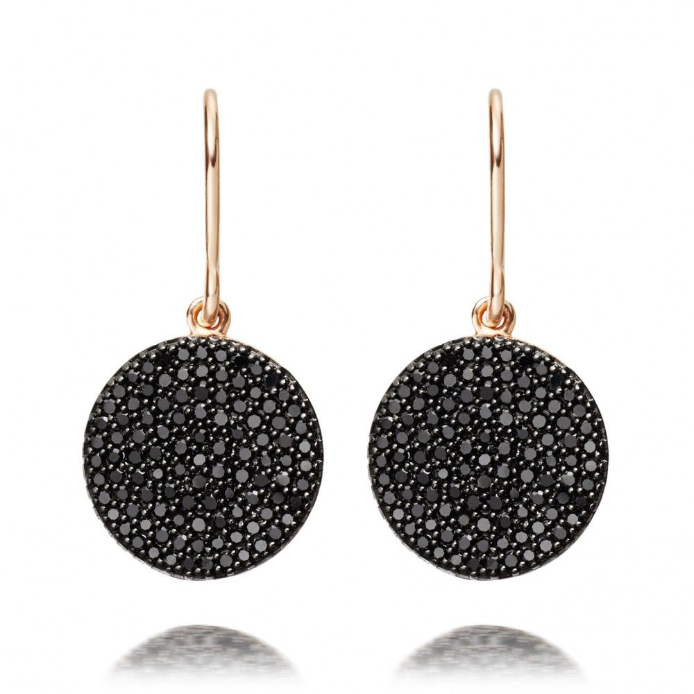 Icon Black Diamond Earrings Black Diamond Earrings Gold Jewelry Outfits Real Gold Jewelry