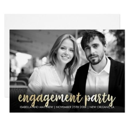 #photo - #Engagement Party | Hip Customizable Photo Card
