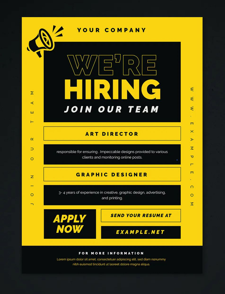 We Are Hiring Flyer Template Ai Psd We Are Hiring Flyer Design Templates Flyer Template