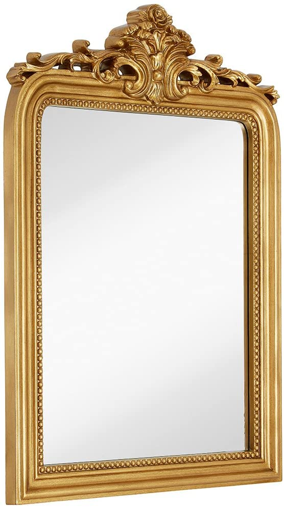 Hickory Manor House Old World Wall Mirror With Side Glass 20 58w X 32 75h In Hm8061gl Mirror Wall Mirrors Wayfair Accent Mirrors