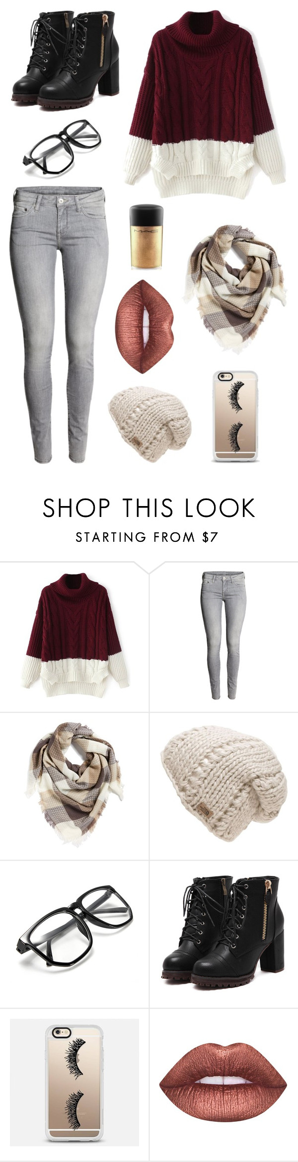 """Untitled #5"" by songird on Polyvore featuring H&M, BP., The North Face, Casetify, Lime Crime and MAC Cosmetics"