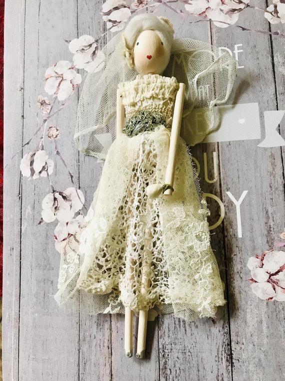 Handmade vintage ghost Bride Doll ,art doll/fairy doll/handmade doll #bridedolls