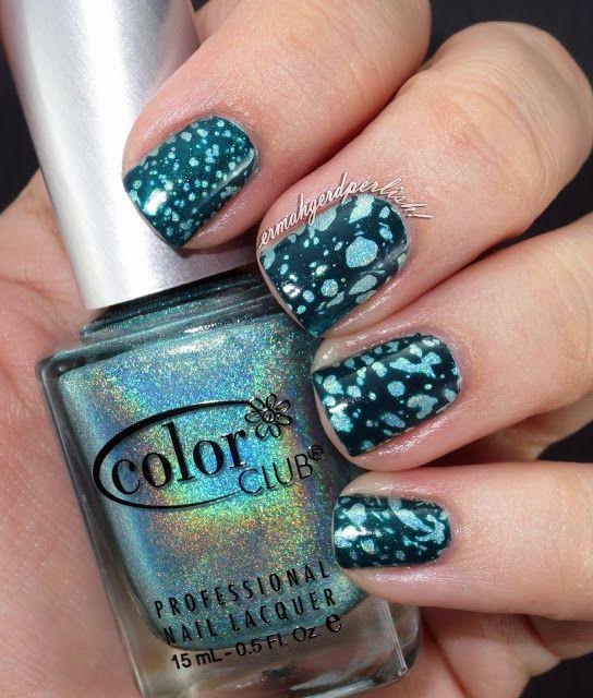 Ermahgerd Perlish!: Water Spotted nails!