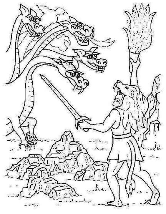 תוצאת תמונה עבור greek mythology hercules coloring pages ...