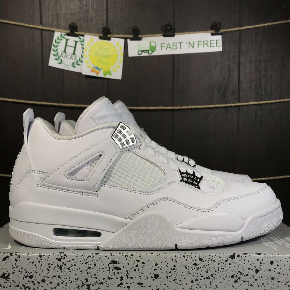meet 1644b b6e6a Nike Air Jordan 4 Retro Pure Money Size 11 White Metallic Silver New 308497  100  shoes  kicks  sneakers