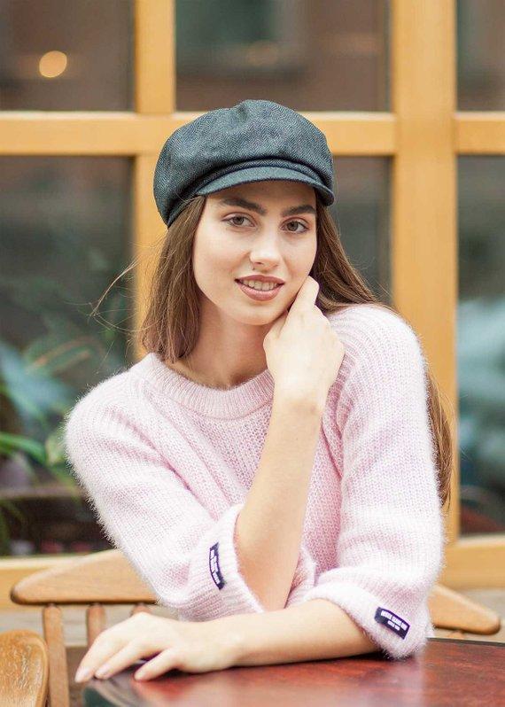 Tweed cabbie cap for women ced1e4e91611