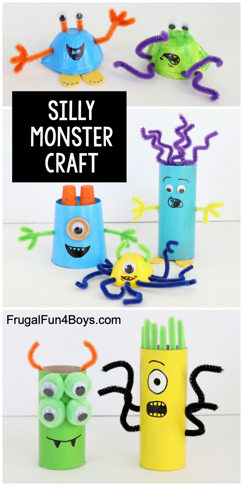 Photo of Silly Monster Craft for Kids – Frugal Fun For Boys and Girls