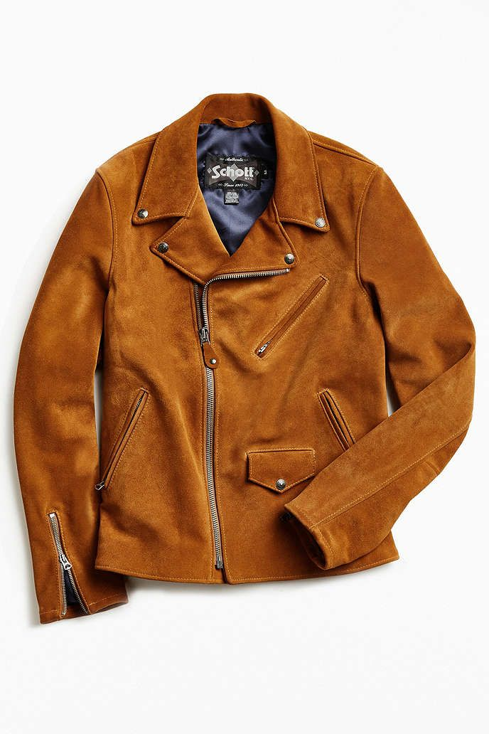 83db94dd5 Schott X UO Suede Cowhide Moto Jacket | Hoodies, Jackets, and such ...