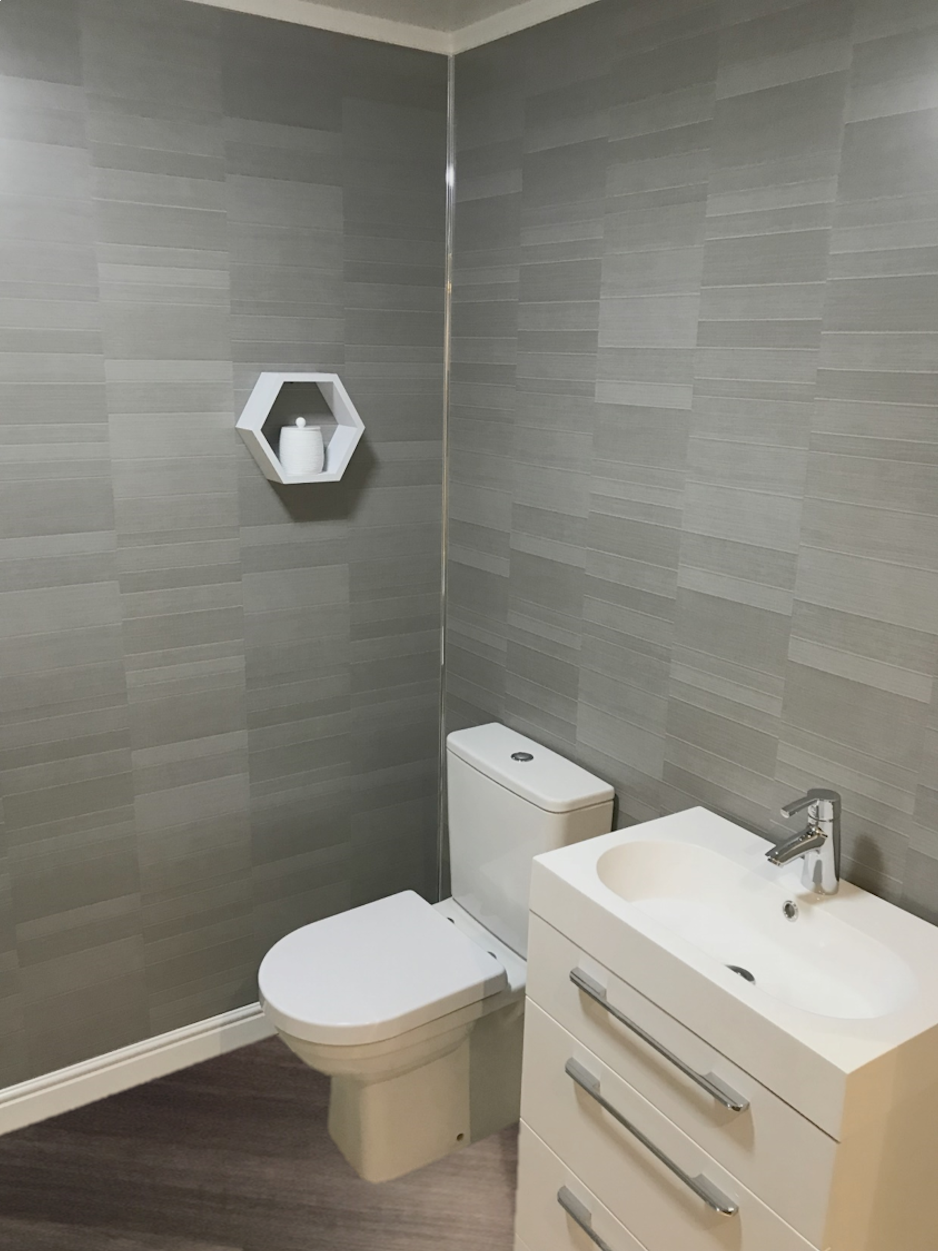Graphite Grey Modern Tile Effect Wall Panel Bathroom Wall Coverings Bathroom Wall Panels Bathroom Wall Cladding