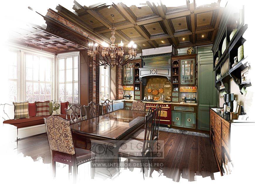 Kitchen design country style interior sketch portfolios also pinterest rh