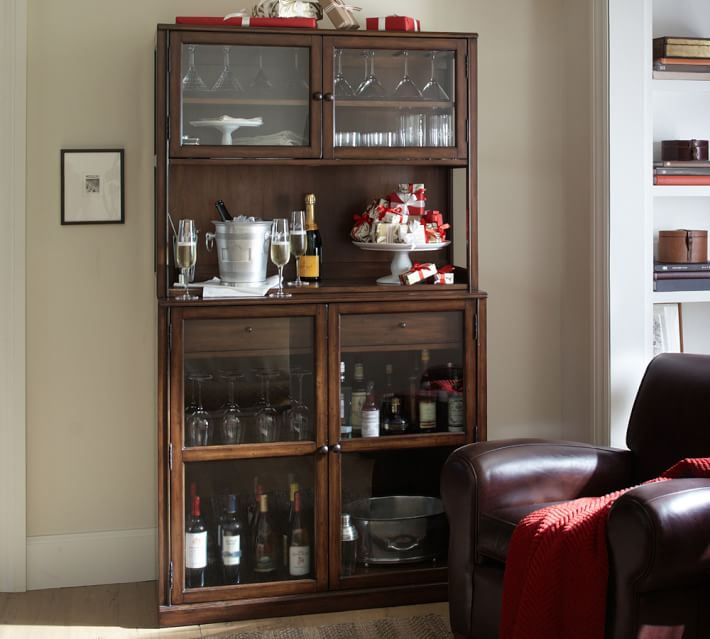 Designed In The Tradition Of Fine Cabinetry Our Saxton Entertaining Bar Features A Warm Multistep Finish High Quality Tempered Gl Doors And Generous