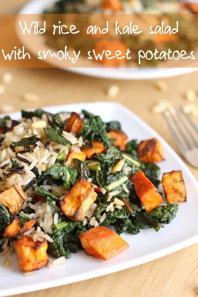 kale salad with smoky sweet potatoes | Recipe | Kale, Chicken potatoes ...