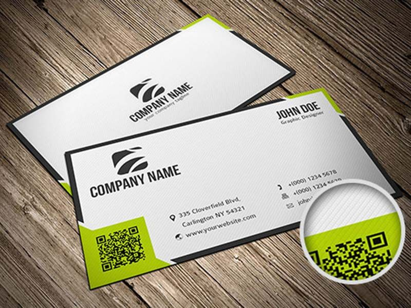 Free Business Card Template With QR Code | Business card ...