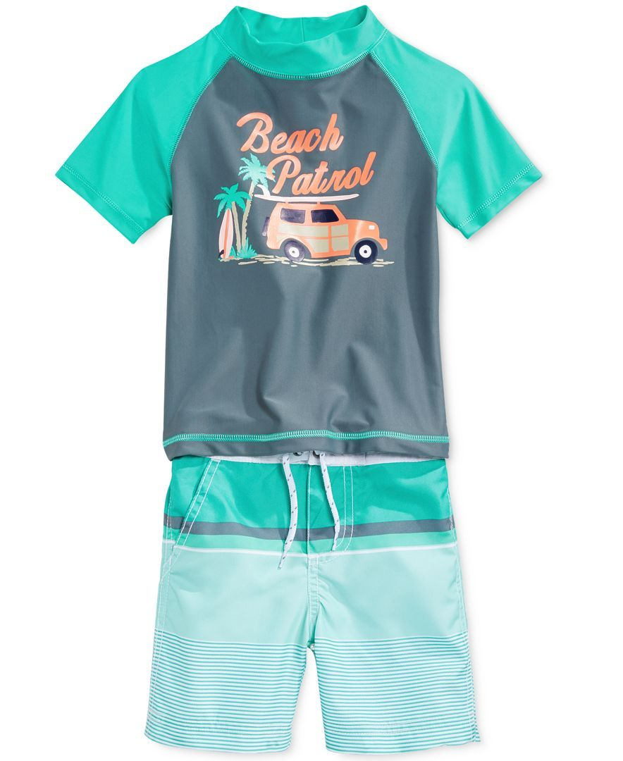 a3aef05a6a Carter's Little Boys' 2-Piece Beach Patrol Rash Guard Set | Products ...