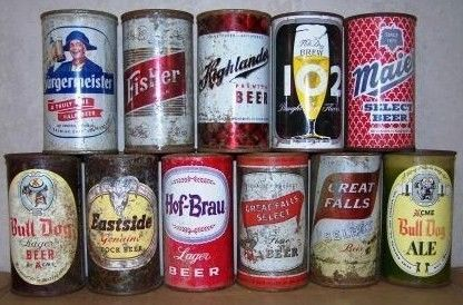 Lot of 11 West Coast Flat Tops Beer Cans