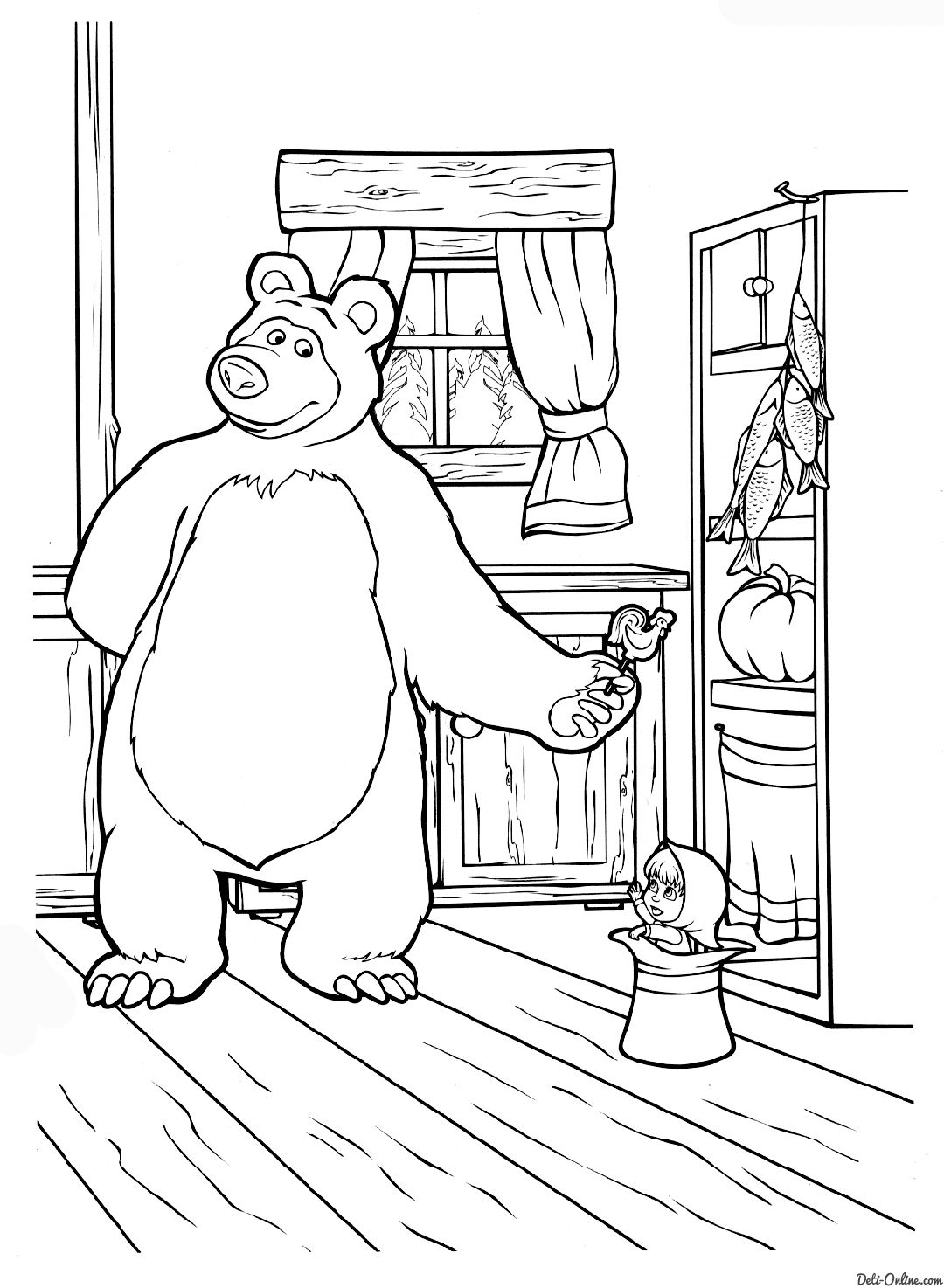 Masha And The Bear Coloring Pages Bear Coloring Pages Masha And The Bear Disney Princess Coloring Pages