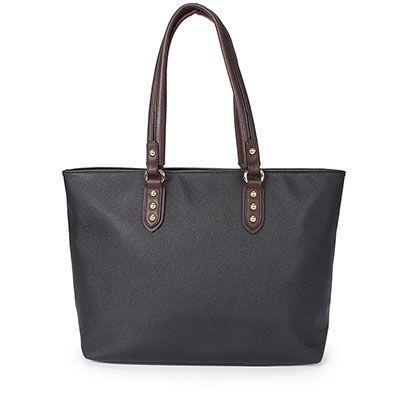 0019abfc6 89$ Bolsa shopping bag gash bg 70696, material sintético. Forro em material  têxtil. Possui bolso interno com zíper. Fecho em zíper.