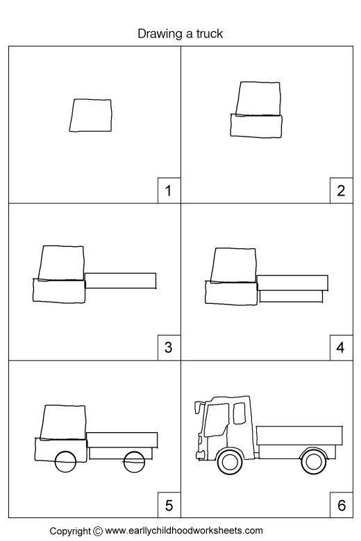 how to draw a truck step by step for beginners