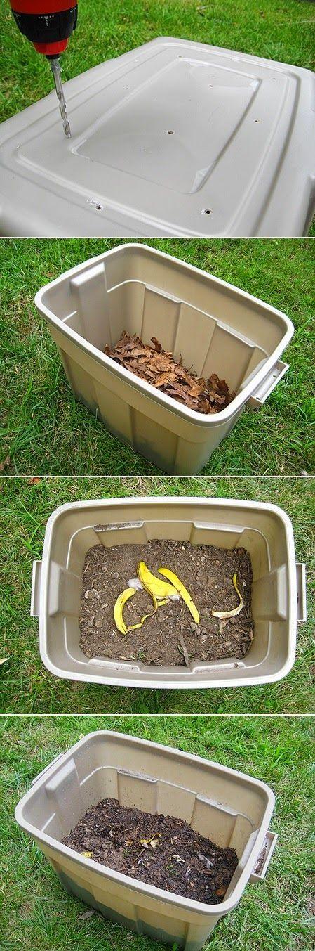 how to make a compost plastic bin diy