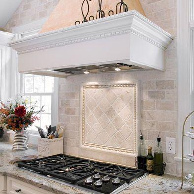cool travertine kitchen backsplash ideas   Tumbled Travertine Subway Tile Backsplas Design, Pictures ...
