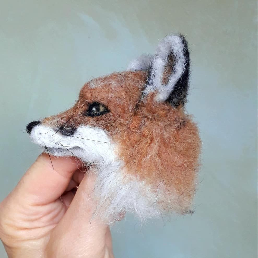 Needle Felted Fox Felted Fox OOAK