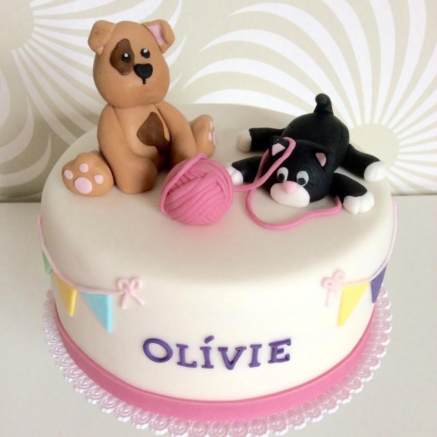 Puppy Kitty Cake By Dasa