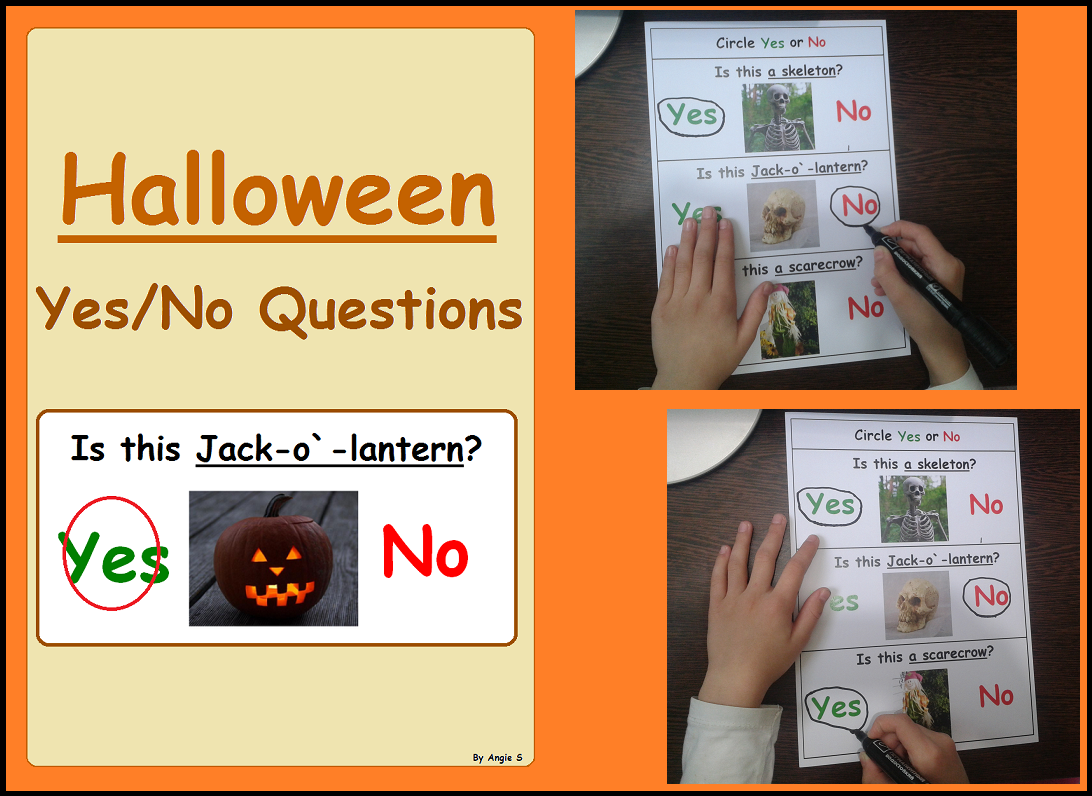 Halloween Worksheets For Special Education
