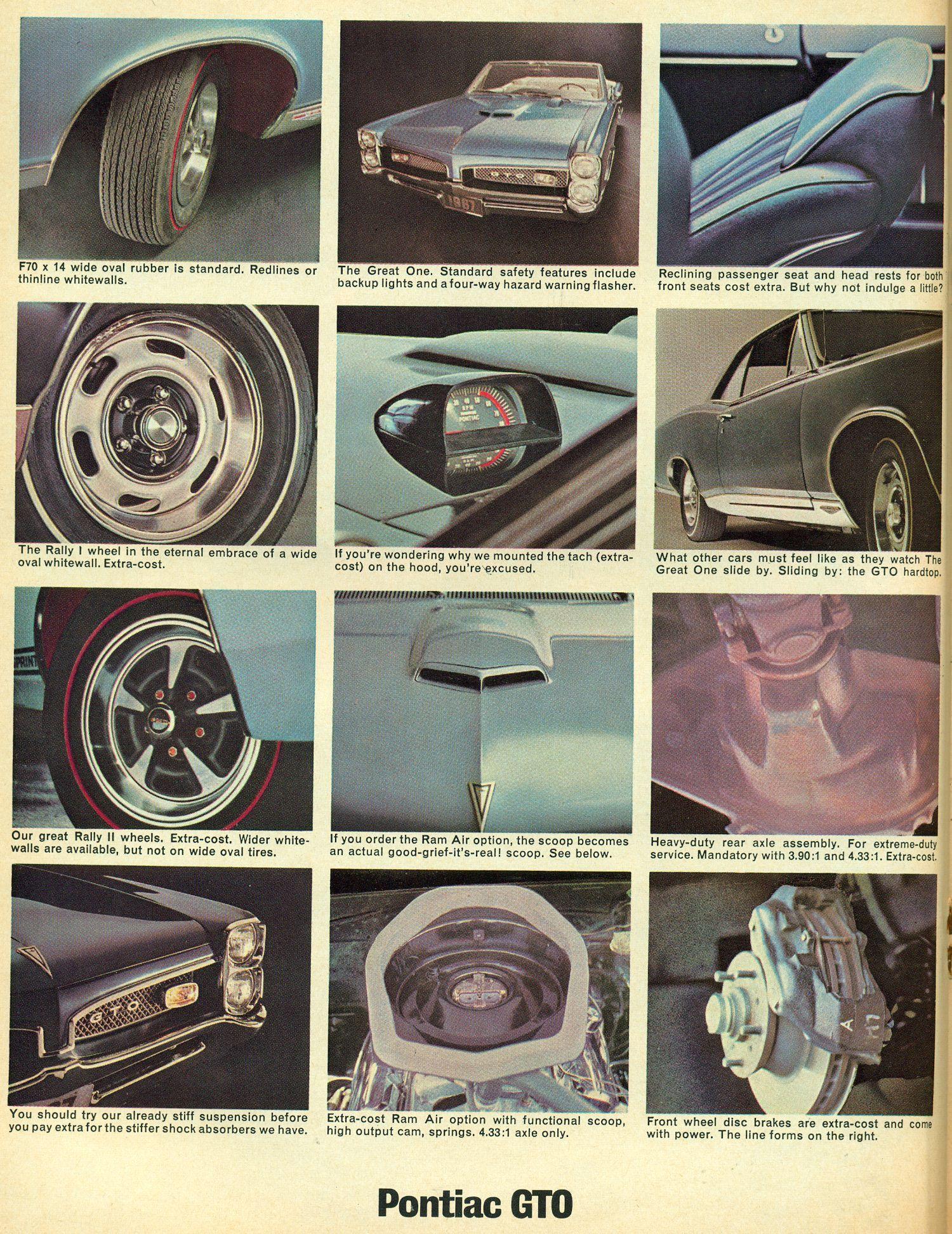 1967 GTO Options Poster | Cars | Pontiac cars, 1967 gto, 67