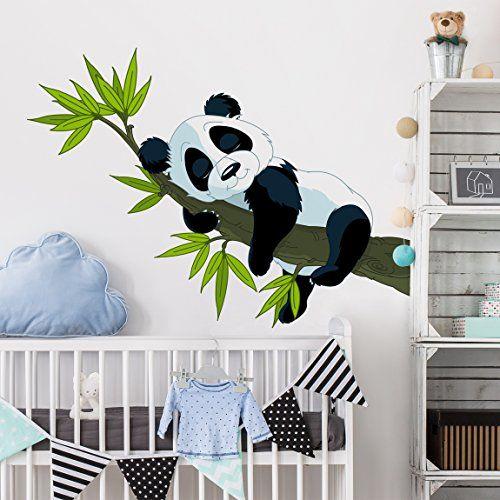 Wandsticker Kinderzimmer | Wandtattoo Schlafender Panda Wandtatoo Wandsticker Kinderzimmer