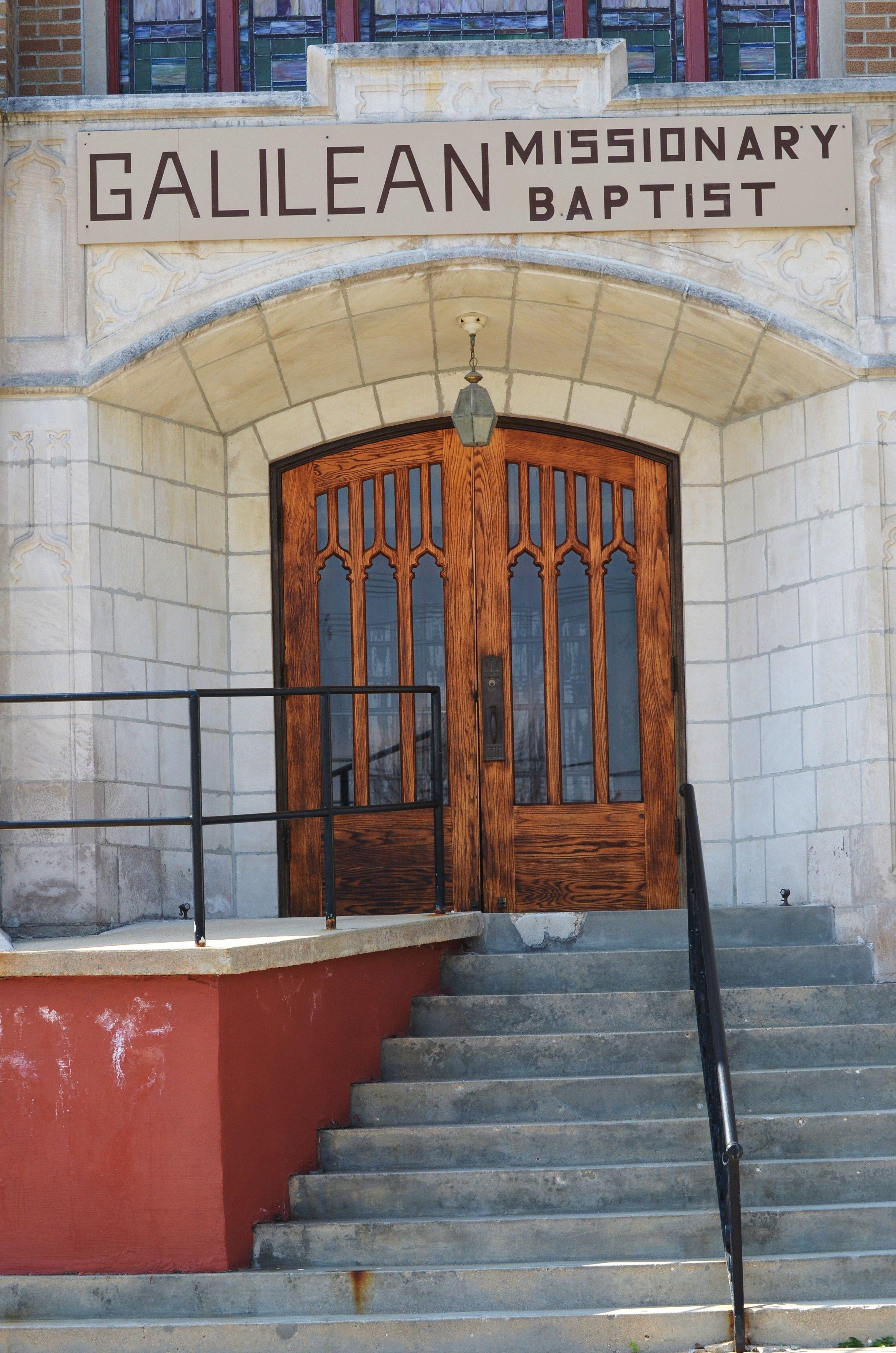 Kokomo Indiana Church Doors Galilean Missionary Baptist Kokomo Kokomo Indiana Church