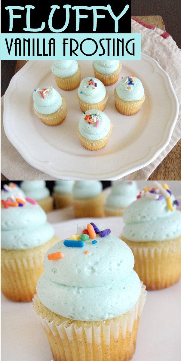 FLUFFY VANILLA FROSTING #cupcakefrostingtips