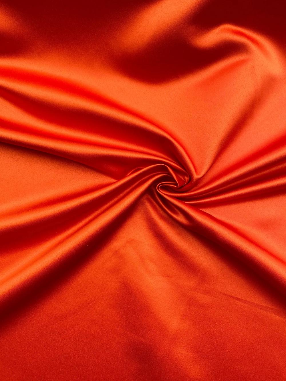 Burnt Orange Duchess Satin Fabric