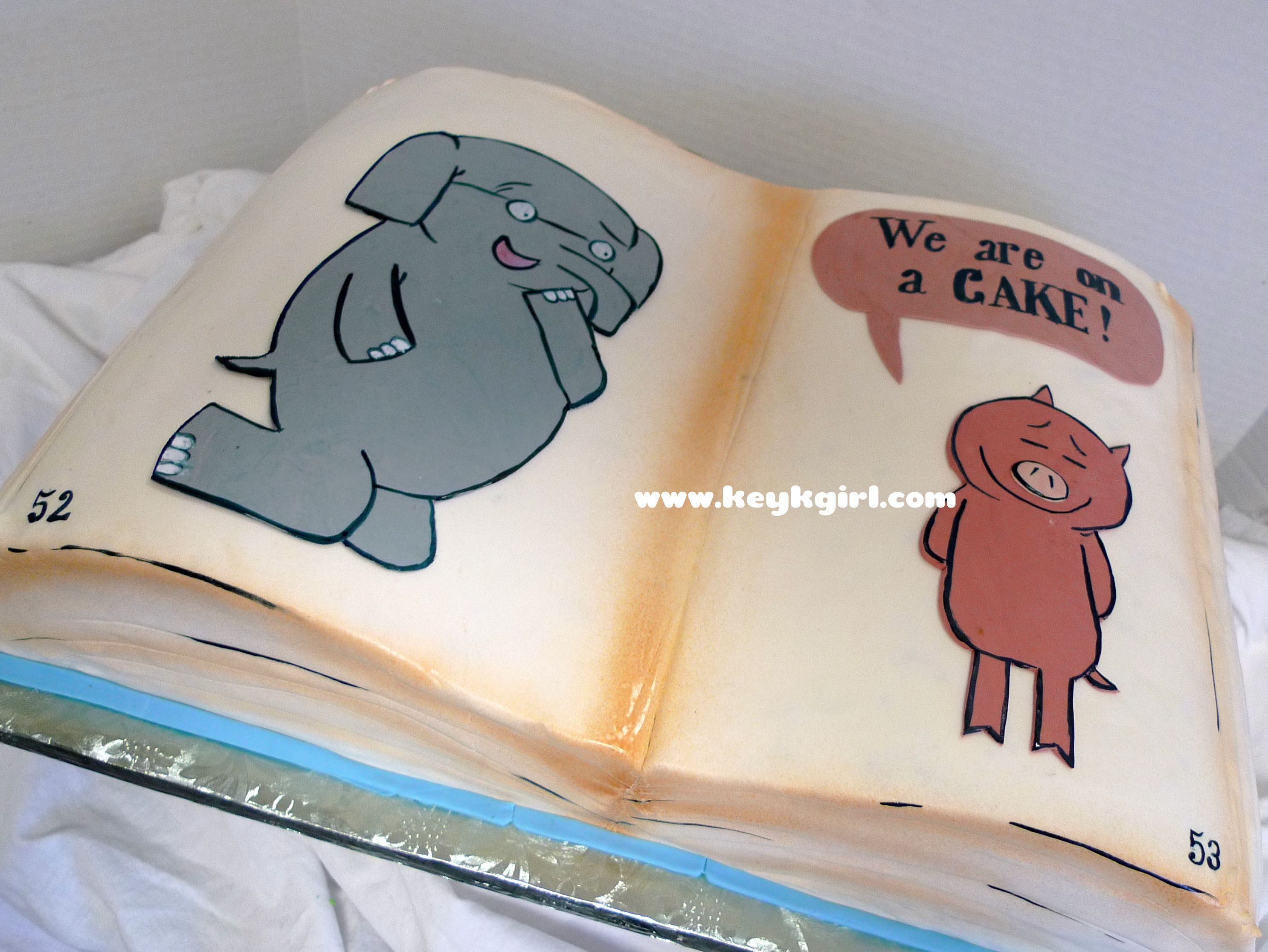 Elephant piggie mo willems childrens book cake with