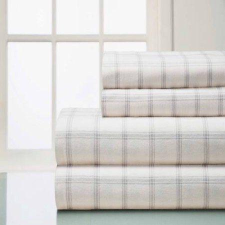 Winter Nights Cotton Flannel Sheet Set, Beige