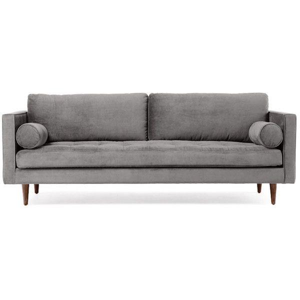 Joybird Briar Mid Century Modern Gray Sofa 1 279 Liked On