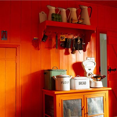 Don't be afraid of  colour, even in your kitchen.