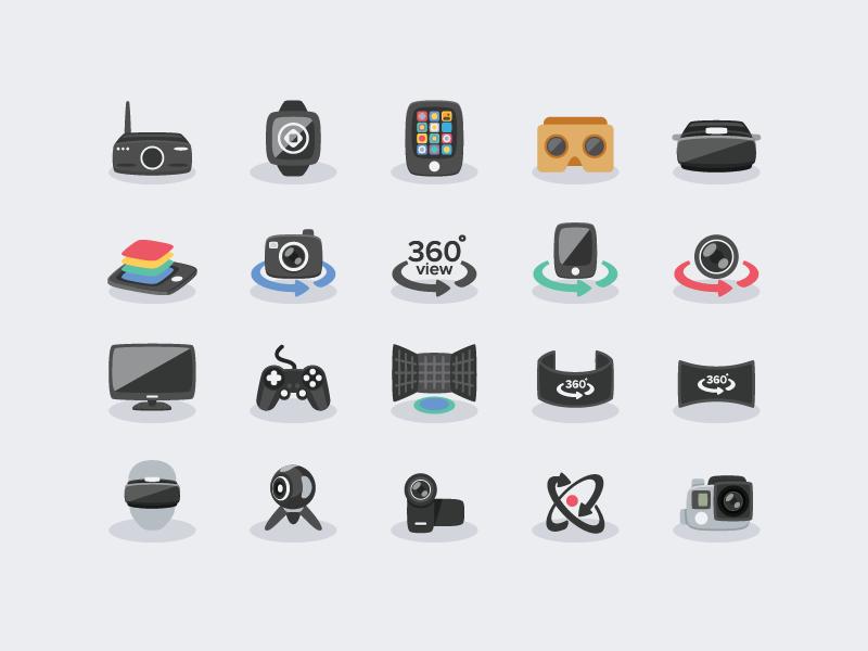 Virtual Reality Vr Icons Virtual Reality Icon Flat Icon