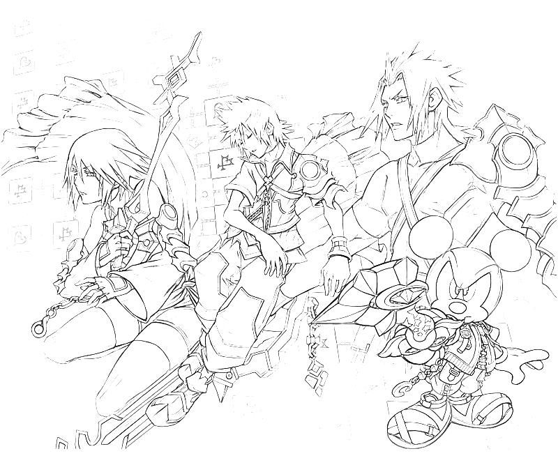 kingdom hearts coloring pages | Home > Kingdom Hearts > 10 Roxas ...