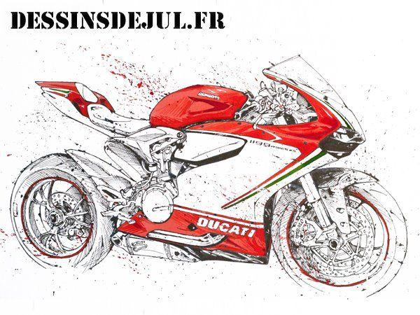 Ducati Panigale By Dessinsdejul Deviantart Com On Deviantart