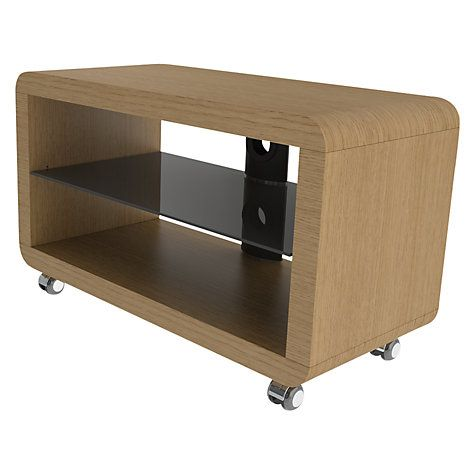 John Lewis Avs L605 1000 3 Ot Trident Television Stand For Up To 42 Tvs Light Oak Online At Johnlewis