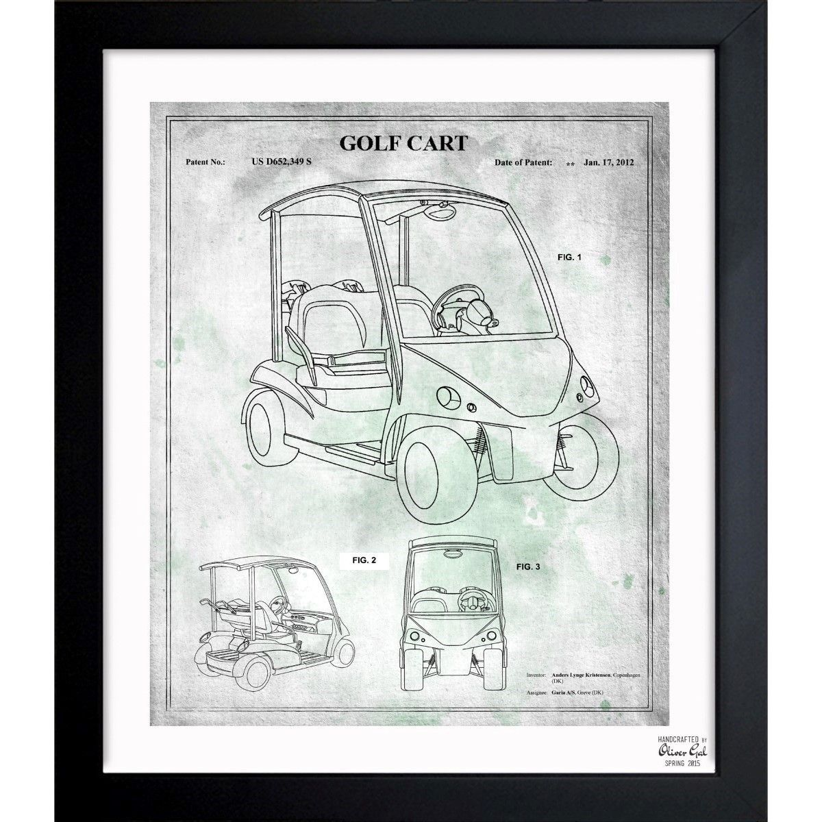 Oliver gal golf cart 2012 framed blueprint art xe pinterest oliver gal golf cart 2012 framed blueprint art malvernweather Image collections