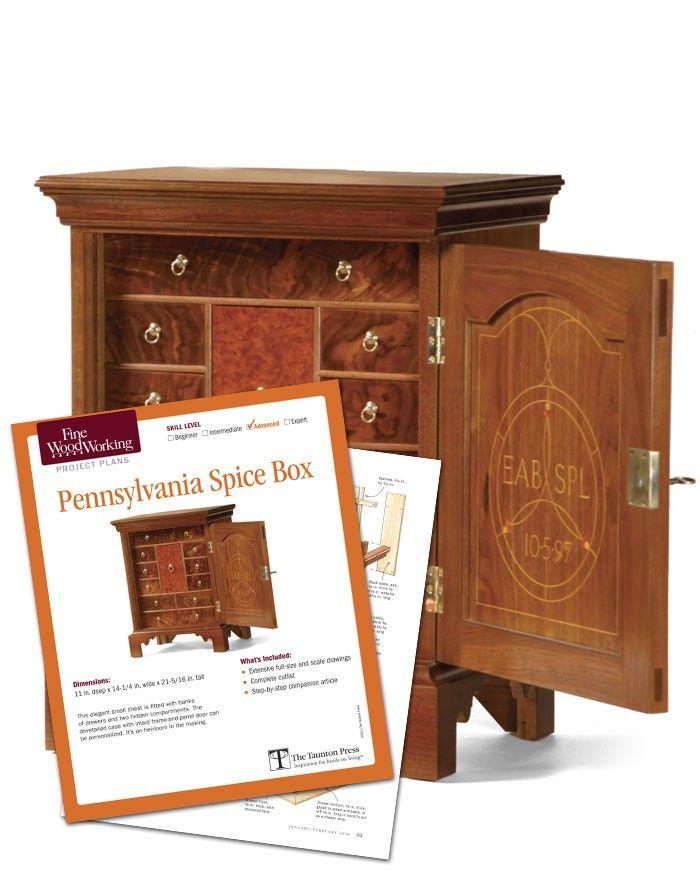 Pennsylvania Spice Box Plans: Spice Box, Woodworking, Fine