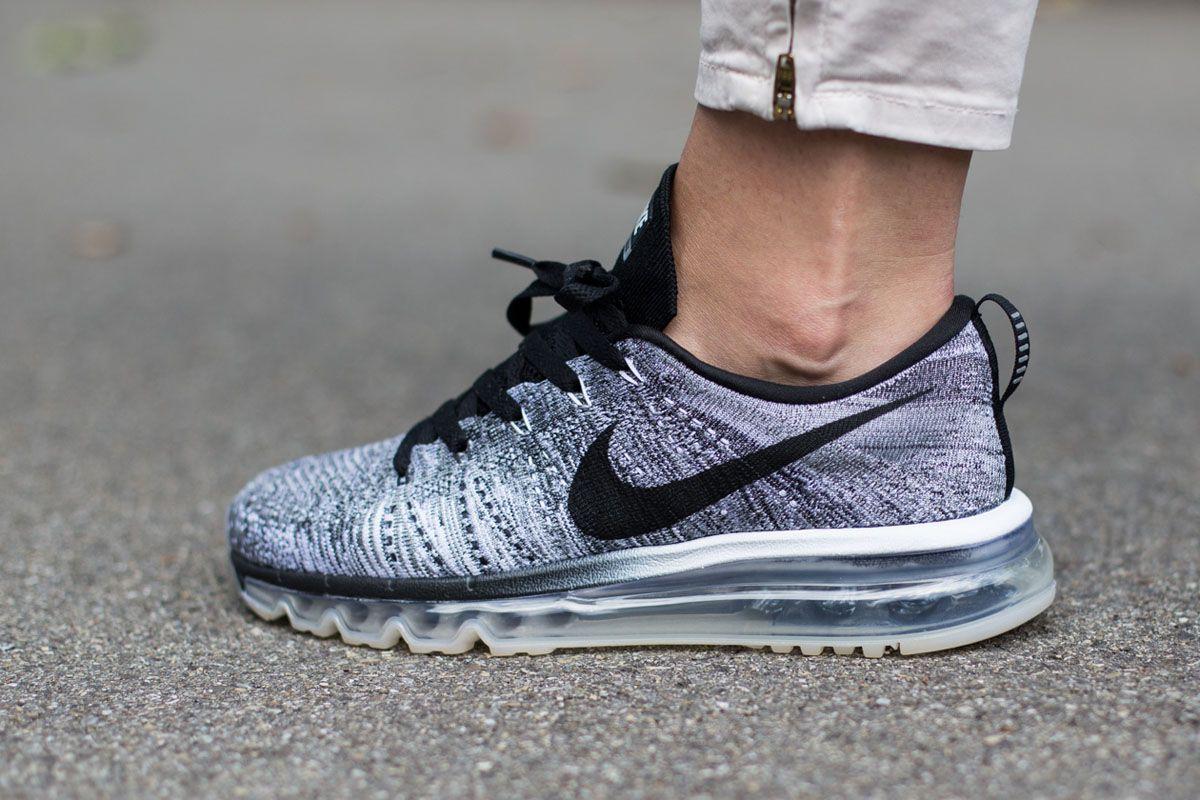Nike Flyknit Air Max gris