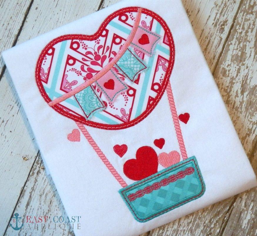 Heart Hot Air Balloon Applique Design Sweet Vivi Pinterest