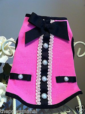 Classic & Sophisticated Pink Dog Dress Tank Tee Sweater Wedding Formalwear