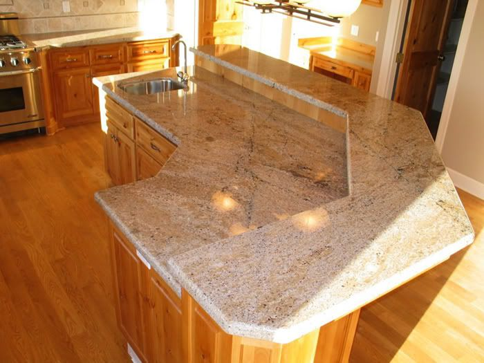 kashmir cream granite | Oak cabinets, Granite countertops ... on What Color Granite Goes With Honey Maple Cabinets  id=64737