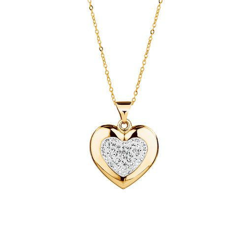 10ct yellow gold sterling silver crystal heart pendant michael 10ct yellow gold sterling silver crystal heart pendant michael hill mozeypictures Gallery